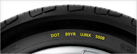 Browns alignment reading tire sidewall DOT number