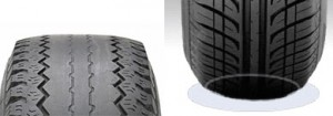 Tire wear, over_Inflation, Browns Alignment Brake Auto Repair raleigh, NC
